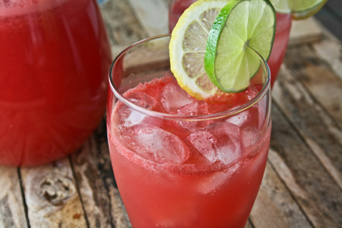 watermelon rosemary lemonade